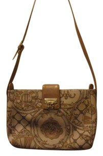 Liz Claiborne Vintage Monogram Buckle Strap Shoulder Bag