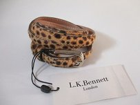 L.K. Bennett L.k. Bennett London Leslie Beige Pony Fur Leather Leopard Thin Belt