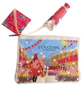 L'Occitane Loccitane zipper pouch & mini velvet hand cream