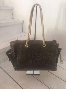 Loewe Sparkly Simple Chic Tote in Brown