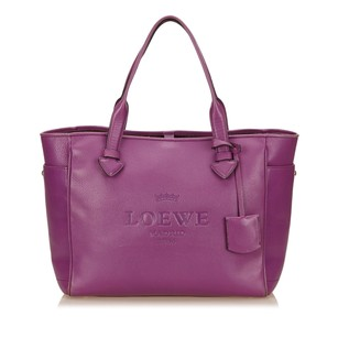 Loewe Leather Others Purple Tote