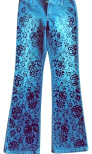 London Blue Boot Cut Jeans-Distressed