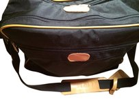 London Fog Suitcase Travel Carry On Black & Tan Travel Bag