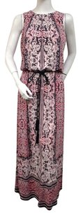 Multi-Color Maxi Dress by London Times Gothic Pattern