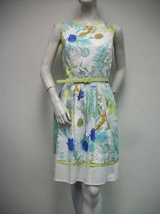London Times short dress Multi-Color Belted Floral on Tradesy