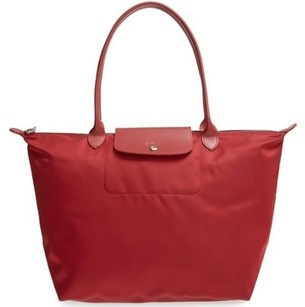 Longchamp Le Pliage Neo Tote in Red