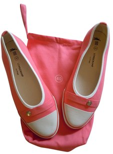 Longchamp Canvas Tennis Slipons Pink Coral coral pink Flats