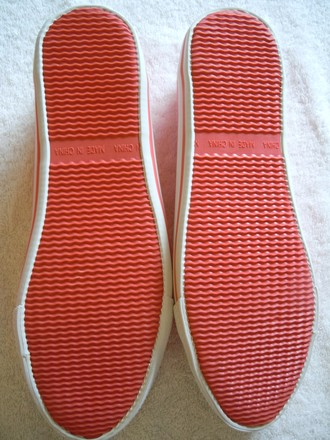 Longchamp Canvas Tennis Slipons coral pink Flats