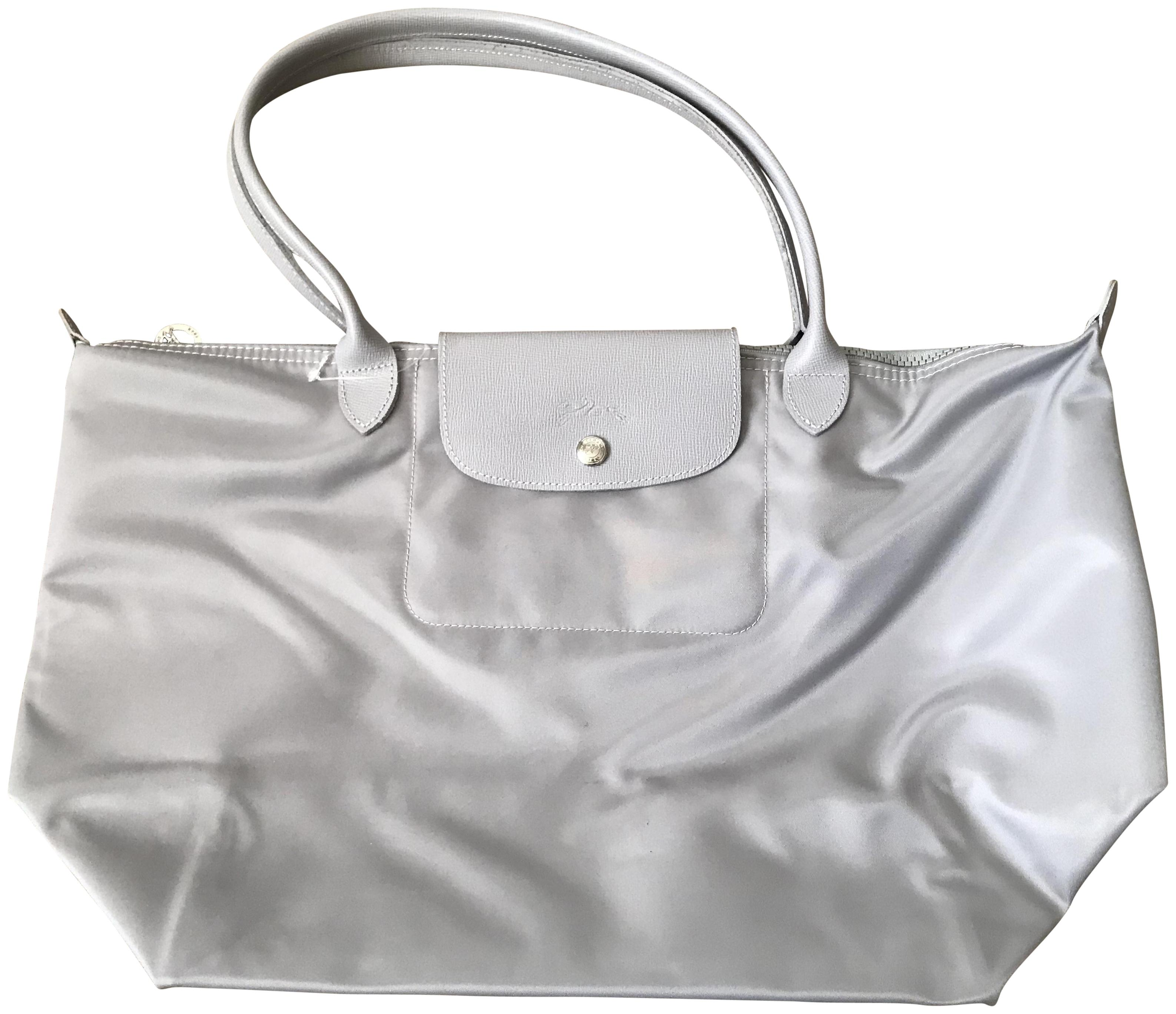 Longchamp Lepliage Neo Tote in light grey/silver ...