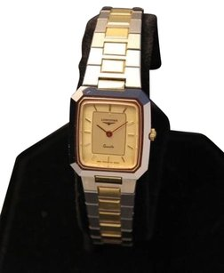 Longines Longines Quartz Stainless Steel Gold Plate Swiss Made 1990s Ladies Watch Rx86