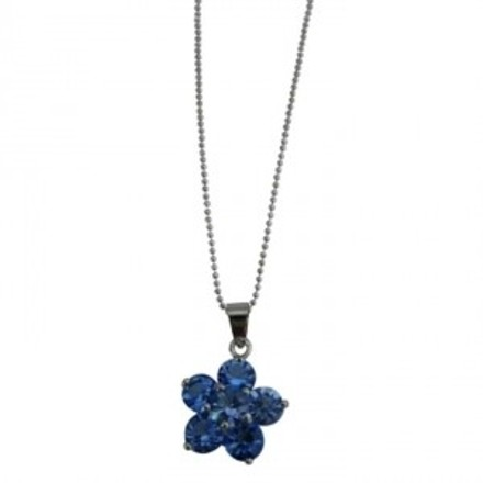 Blue Looking Flower Pendant Necklace Shop Gifts Jewelry Set
