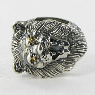 Lori Bonn Lori Bonn 212114c Slide Charm Here Kitty Kitty Lion Yellow Citrine 925