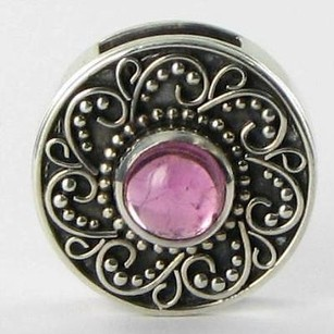 Lori Bonn Lori Bonn 29911pt Slide Charm October Treat Pink Tourmaline 925 Silver