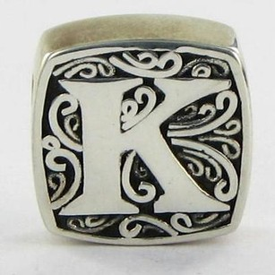 Lori Bonn Lori Bonn 29920xk Slide Charm Initial K Is For Kissable Sterling Silver