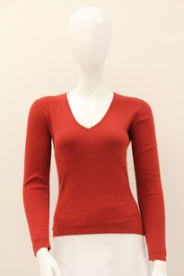 Loro Piana V Neck Longsleeve Ribbed Sweater
