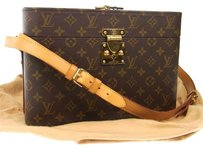 Louis Vuitton 100% Auth LOUIS VUITTON Cosmetic Shoulder Bag Monogram Leather France 5678rk