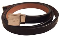 Louis Vuitton LV Glazed Leather Belt