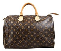 Louis Vuitton Speedy 40 Tote in Brown