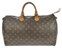 Louis Vuitton Monogram Leather Tote Alma Satchel in Brown