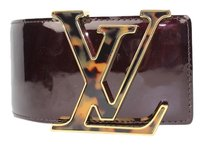 Louis Vuitton (NO SKU)Tortoise Logo LV Waist Vernis Initiales Patent Leather Belt Amarante