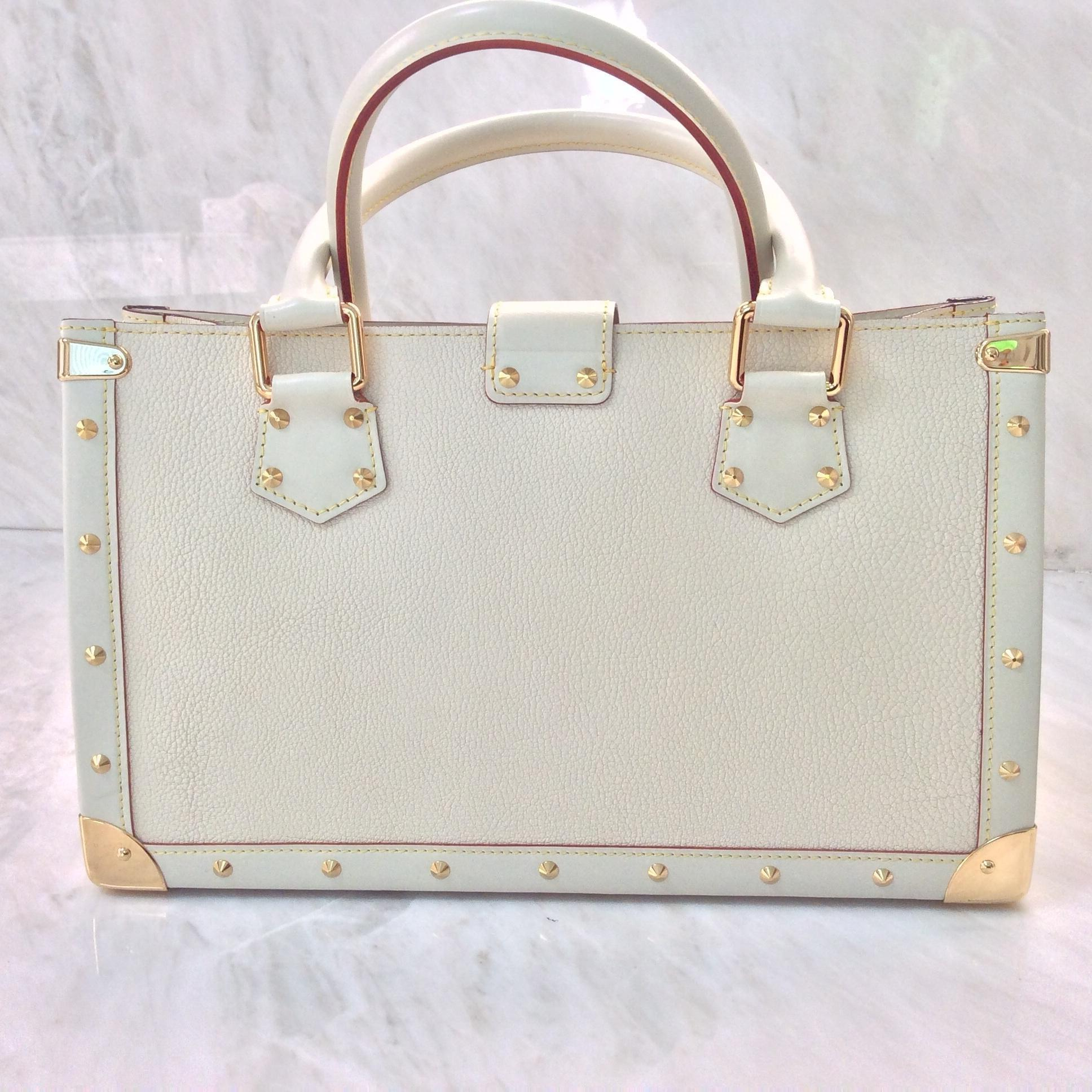 Louis Vuitton Suhali Le Fabuleux Studded Handbag Cream Satchel on ...