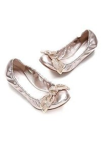 Louis Vuitton Rose Gold Flats