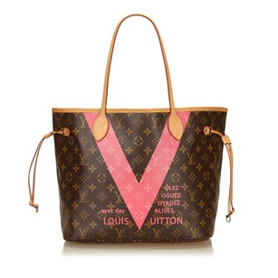 Louis Vuitton Brown Canvas Leather 6llvto009 Tote