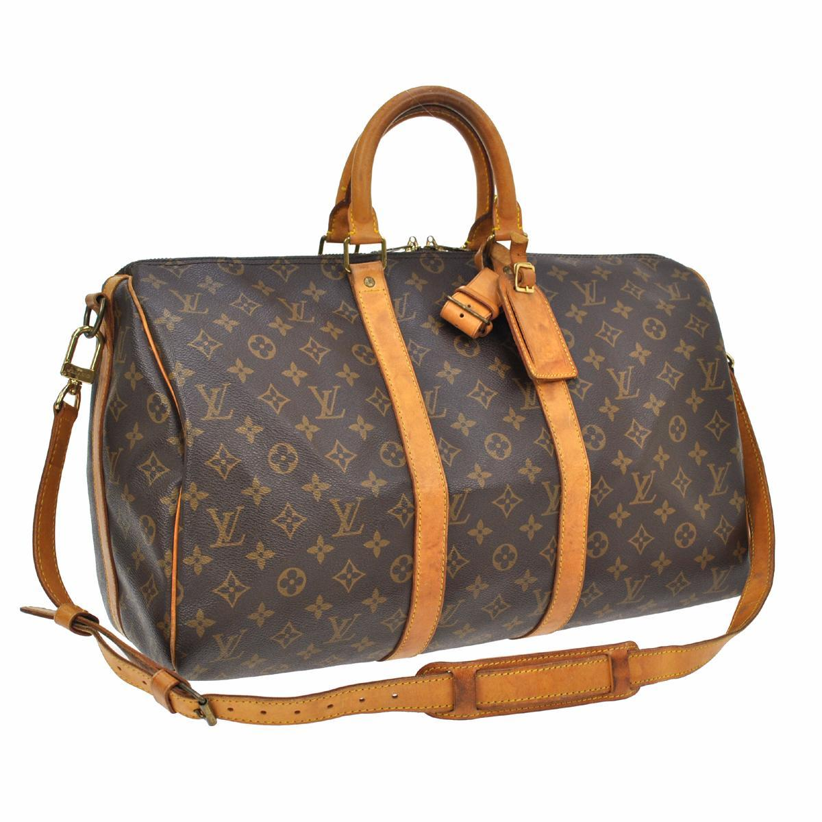 Louis Vuitton Keepall 45 Monogram Carry On Duffle Luggage M41428 ...