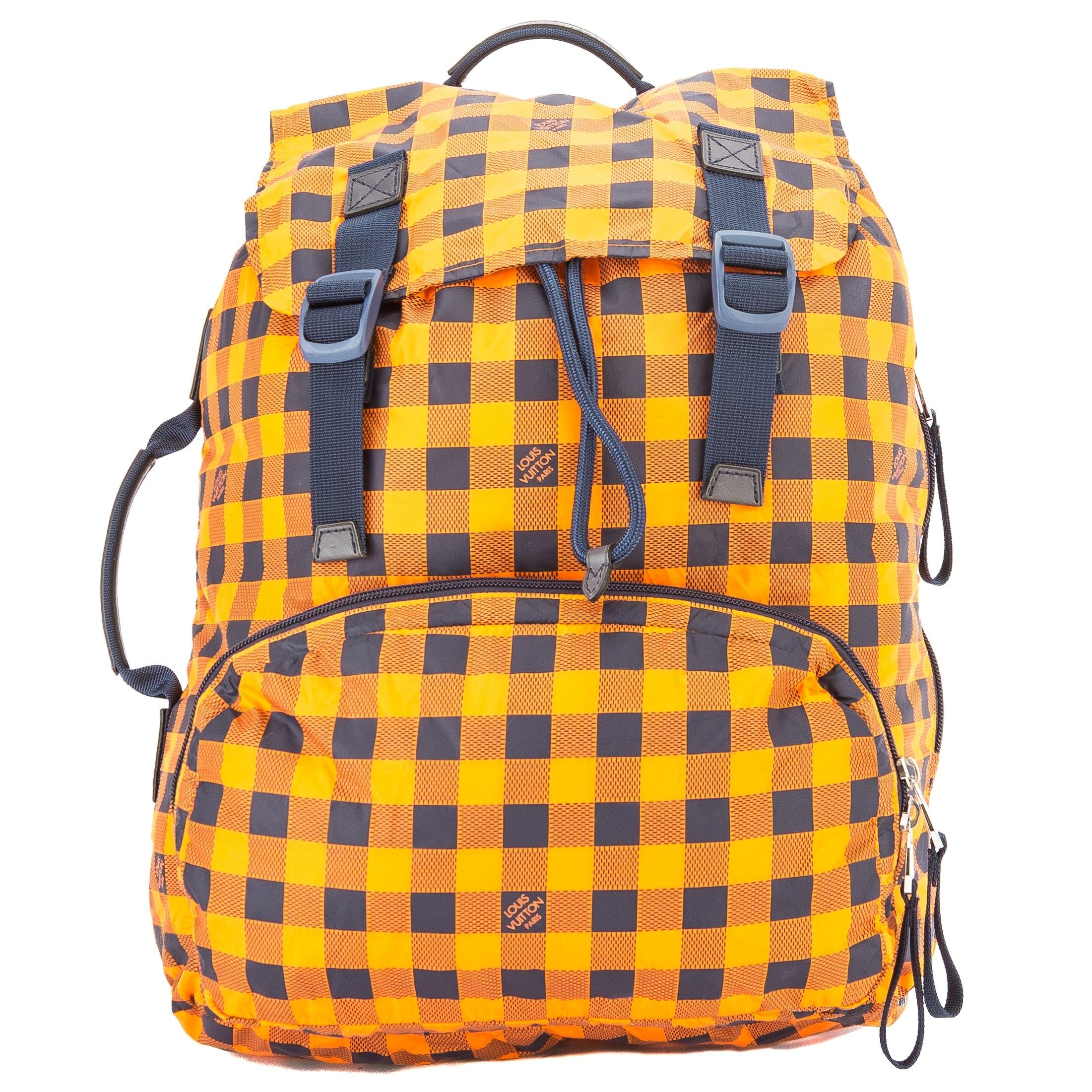 Louis Vuitton Orange And Black Canvas Damier Adventure Backpack q65oFS6If