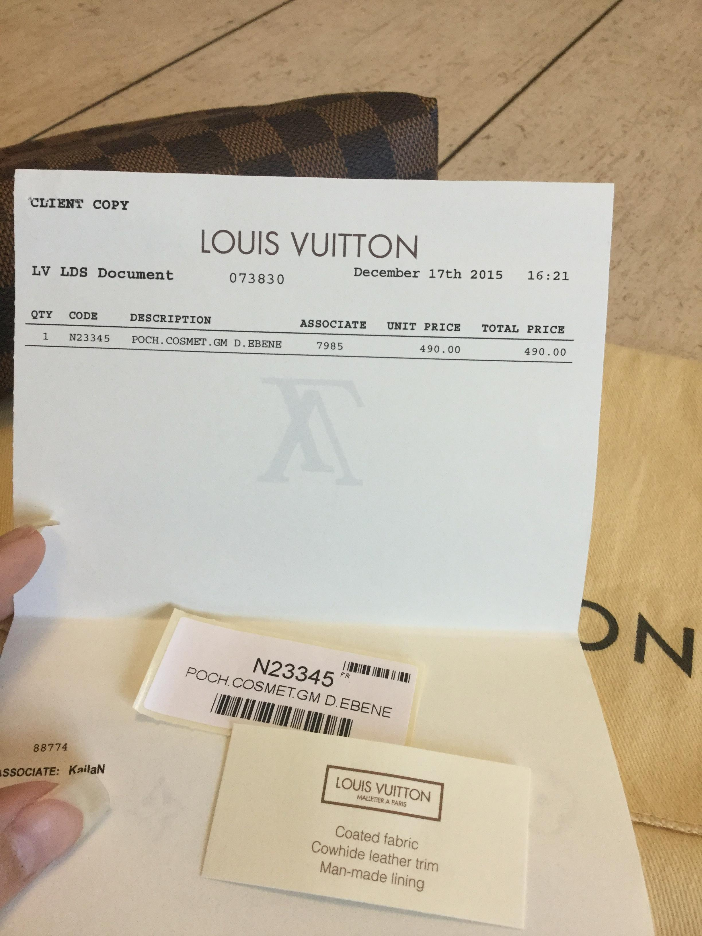 Louis vuitton date code list in Melbourne