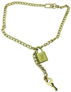 Louis Vuitton Louis Vuitton Lock & Key Handmade Into a Necklace
