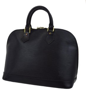 Louis Vuitton Hand Leather Tote in Black