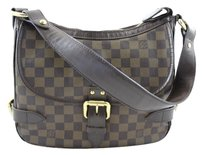 Louis Vuitton Damier Ebene Highbury Leather Shoulder Bag