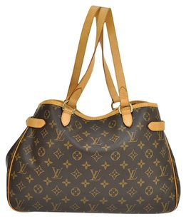 Louis Vuitton Horizontal Shoulder Tote in Brown