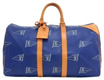 Louis Vuitton Keepall 45 Canvas Limited Edition Blue Travel Bag