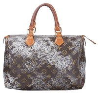 Louis Vuitton Limited Edition Vintage Embroidered Dentelle Tote in Brown