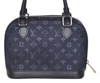 Louis Vuitton Little Alma Satchel in Black
