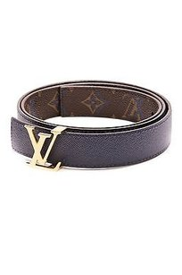 Louis Vuitton Louis Vuitton Monogram Canvas Blue Rainbow Initiales 30mm Belt Size 36