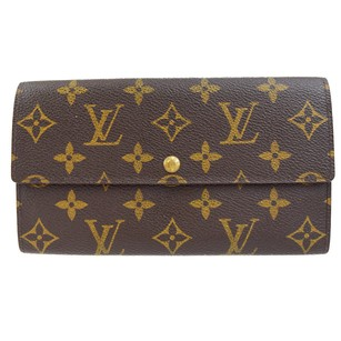 Louis Vuitton LOUIS VUITTON Bifold Wallet Monogram Brown