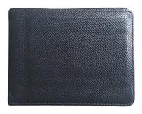 Louis Vuitton Louis Vuitton Black Taiga Bifold Men's Wallet