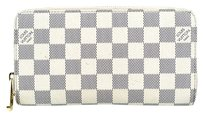 Louis Vuitton Louis Vuitton Damier Azur Canvas Leather Zip Around Zippy Organizer Wallet