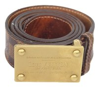 Louis Vuitton check stock Louis Vuitton Damier Ebene Inventeur Belt