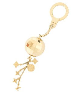 Louis Vuitton Louis Vuitton Gold Glitter Bag Charm (Authentic Pre Owned)