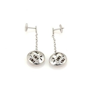Louis Vuitton Louis Vuitton Monogram Gallea 18k White Gold Round Dangle Earrings Wcase