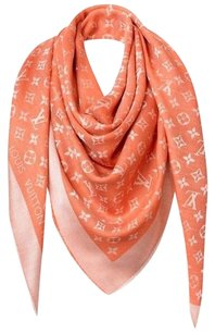 Louis Vuitton Louis Vuitton M75262 Monogram Shawl Scarf, Chili Red