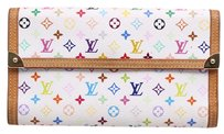 Louis Vuitton * Louis Vuitton Monogram MultiColore Blanc Wallet