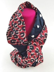 Louis Vuitton Louis Vuitton Scarf Wrap Navy Blue Leopard Silk Snood Infinity Scarf Max060215