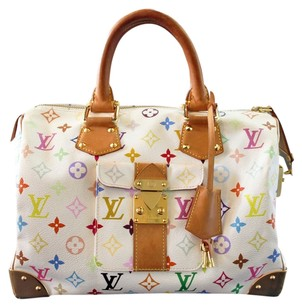 Louis Vuitton Lv Gold Hardware Multicolor Speedy 30 Speedy Canvas Handbag Shoulder Bag