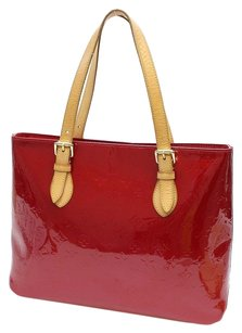 Louis Vuitton Monogram Vernis Tote in Red