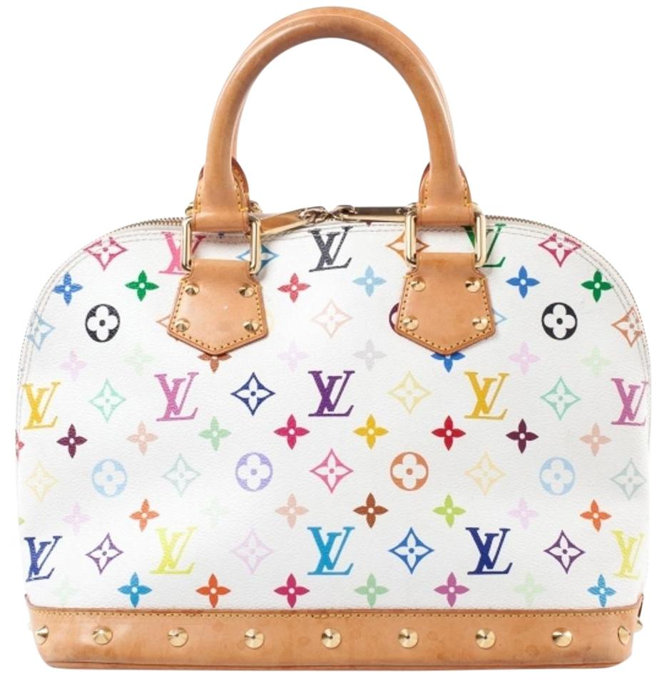 LOUIS VUITTON Multicolor Alma White